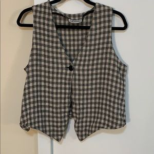 Daily Habit khaki/black plaid vest